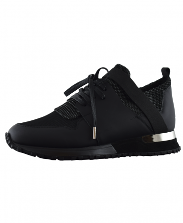 Mallet Black Knit Contrast Elast Shoes