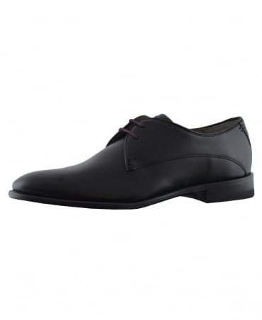 Black Knole Leather Derby Shoes