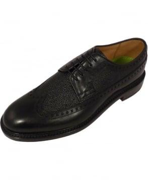 Oliver Sweeney Black Lace Up Brogue Hoagland Shoe