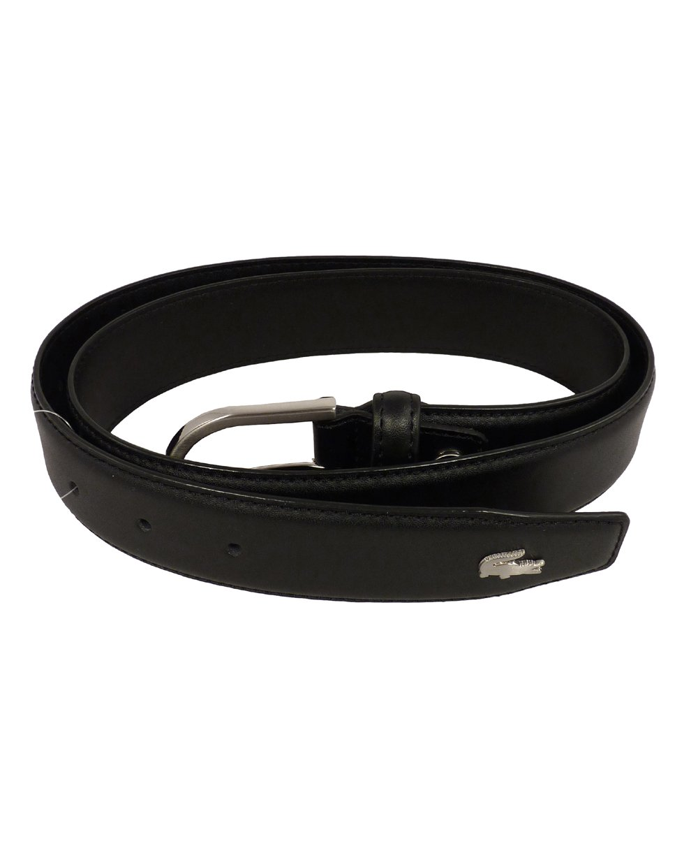 lacoste black leather metal logo belt rc1422 lacoste 56d0a40853