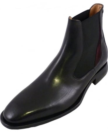 Black Leather Nuxis Chelsea Boots
