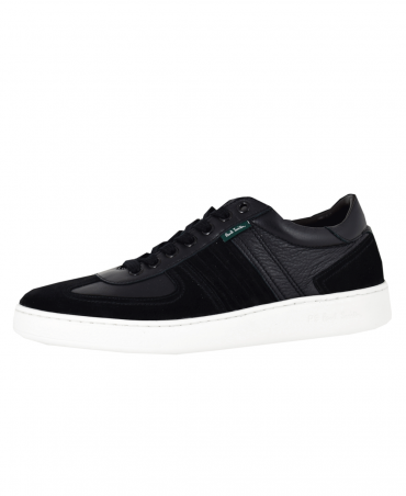 Black Leather 'Reemo' Trainers