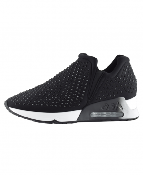 Ash Black 'Lifting' Neoprene & Gemstone Trainer