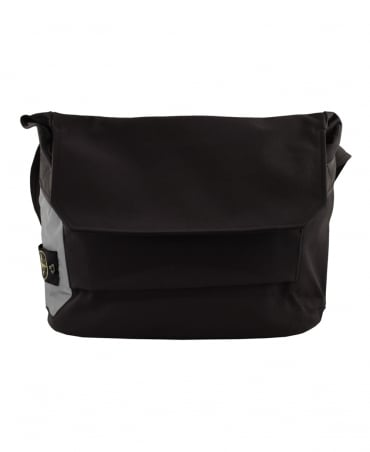 Stone Island Black Logo Patch 91070 Meseenger Bag