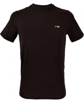 Armani Black Logo Short Sleeve T-Shirt