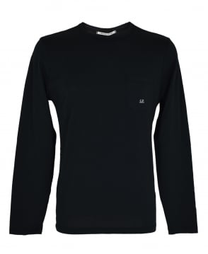 CP Company Black Long Sleeve T-Shirt