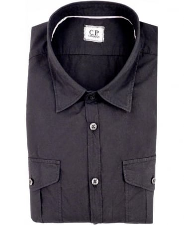 CP Company Black Long Sleeved Shirt