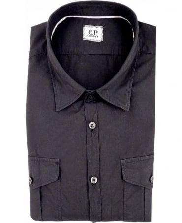 CP Company Black Long Sleeved Shirt