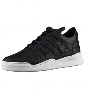 Filling Pieces Black Low Top Ghost Cane Trainers