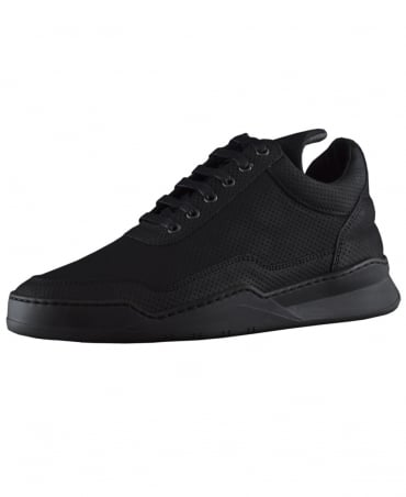 Filling Pieces Black Low Top Ghost Microlane Trainers