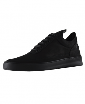Filling Pieces Black Low Top Ripple Trainers
