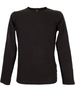 Replay Black M6885 Neck Logo Long Sleeve T-shirt