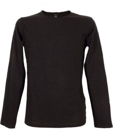 Replay Black M6885 Neck Logo Long Sleeve T-shirt