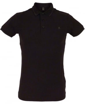 Replay Black M6894 Short Sleeve Polo Shirt