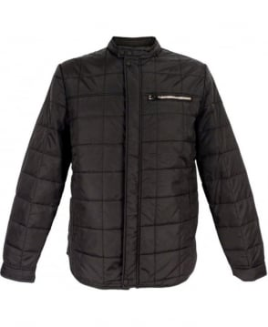 Replay Black M8673 Duck Free Lightweight Quilted Jacket