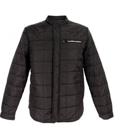Black M8673 Duck Free Lightweight Quilted Jacket