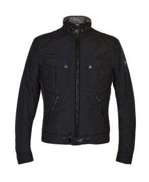 Matchless  Black Mallory Funnel Neck Biker Jacket