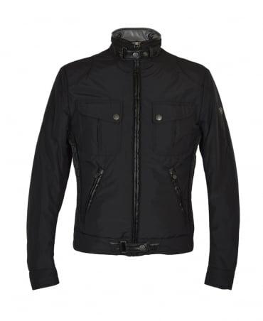 Matchless  Black Mallory Funnel Neck Biker Jacket