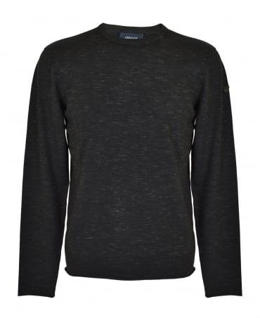 Armani Jeans Black Melange Knitwear Jumper