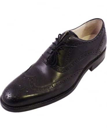 Black Mellin Leather Shoes
