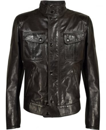 Matchless  Black Mick Blouson Traditional Biker Jacket