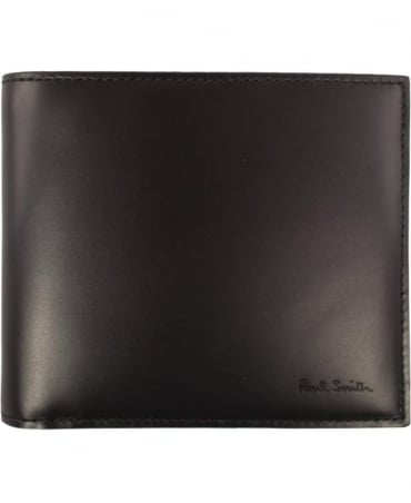 Paul Smith  Black 'Mini' Print Interior ASXC-4832-W718P Billfold Wallet
