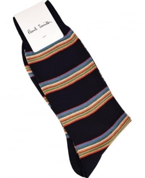 Paul Smith  Black Multi Stripe Block ASXC/800E/F456 Socks