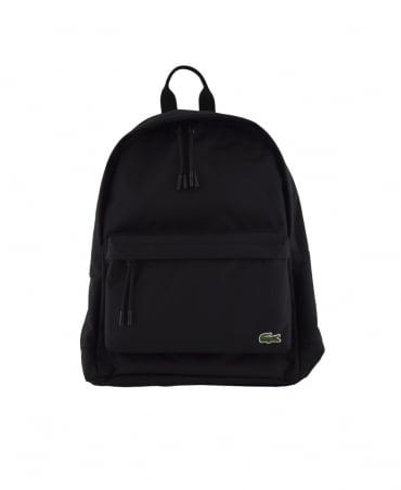 Lacoste Black Neocroc Monochrome Backpack