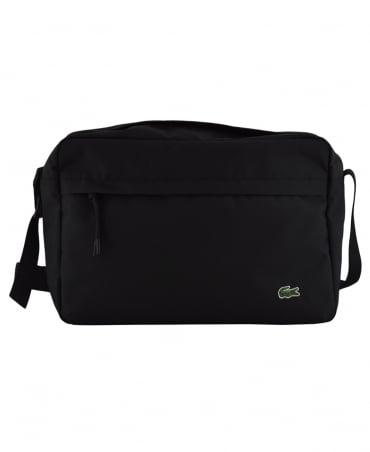 Lacoste Black Neocroc Unicolour Zip Airline Bag
