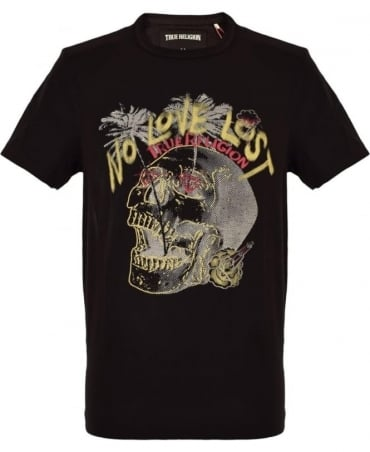 True Religion Black 'No Love Lost' Printed T-Shirt