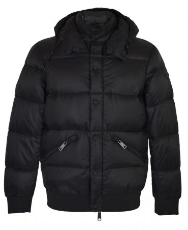 Armani Jeans Black Padded Hooded Jacket