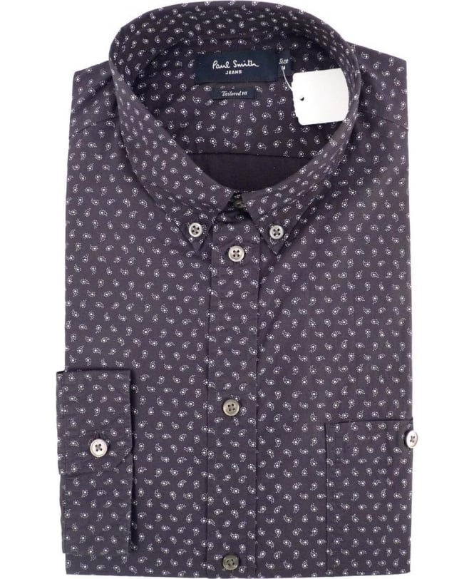 Paul Smith Black Paisley Print Tailored-Fit Shirt