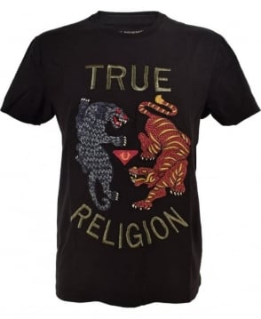 True Religion Black Panther & Tiger T/Shirt