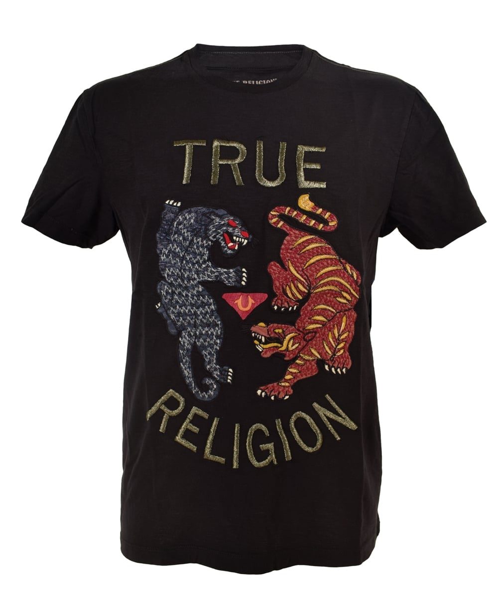 true religion black panther amp tiger tshirt true