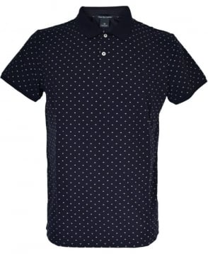 Scotch & Soda Black Patterned 136523 Polo Shirt
