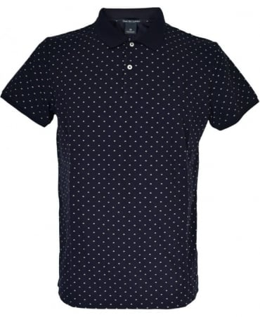 Scotch & Soda Black Patterned 136523 Polo Shirt