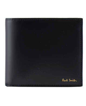 Black 'Paul Smith' Print Interior Wallet