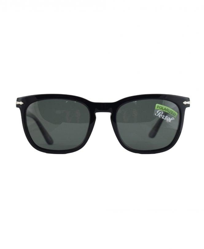 24f59fc568ff Persol Black PO3193S Green Polarized Lens Sunglasses - Sunglasses ...