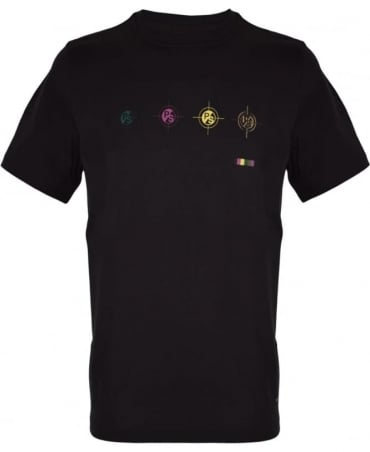 PS By Paul Smith Black PSXD/011R/P10487 'Targets' T-Shirt