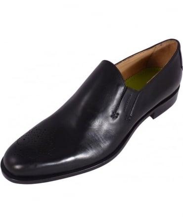 Oliver Sweeney Black Pula 'Wholecut' Slip On Shoes
