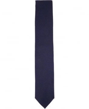 Hugo Boss Black & Purple Micro Square Pattern Tie