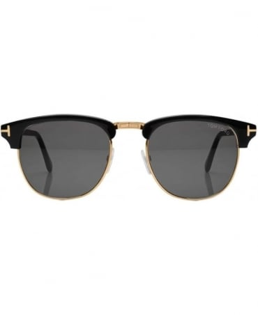 Tom Ford Black Rim With Rose Gold Insert Henry 05N Sunglasses