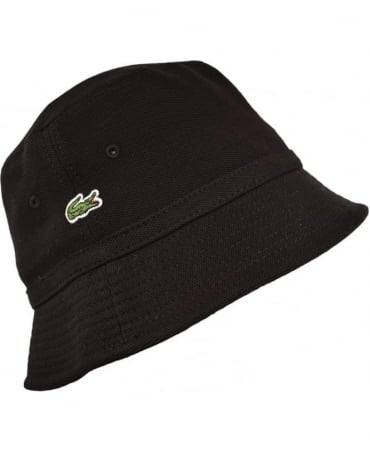 Lacoste Black RK8490 Bucket Hat