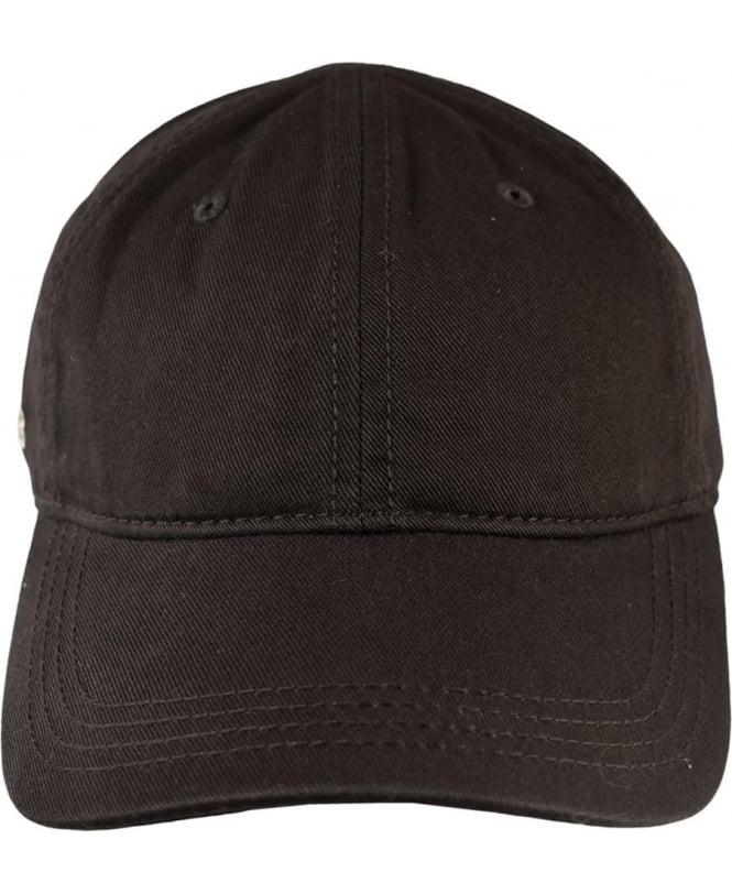 Lacoste Black RK9811 Adjustable Cotton Cap