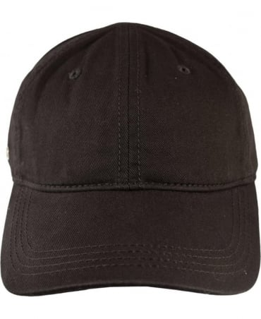 Lacoste Black RK9811 Adjustable Cotton Cap