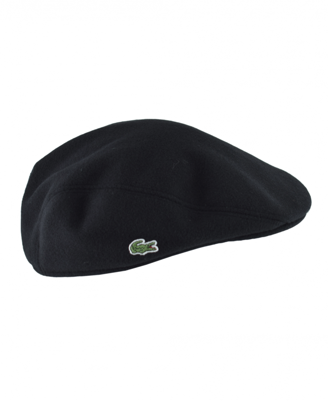 4355fbfbc57 Black RK9814 Wool Broadcloth Flat Cap