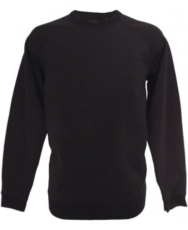 Diesel Black S-ore Large Mohawk Logo Sweatshirt