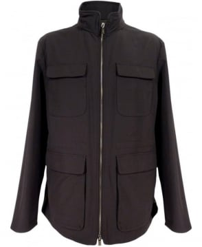 Armani Black SCG17W Turtle Neck Jacket