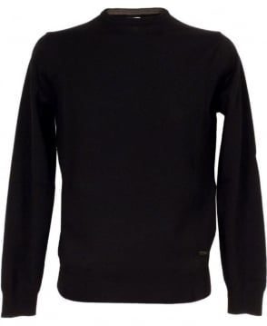 Armani Black SCM20M Crew Neck Jumper