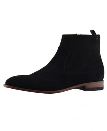 Oliver Sweeney Black Sherborne Zip Up Chelsea Boots